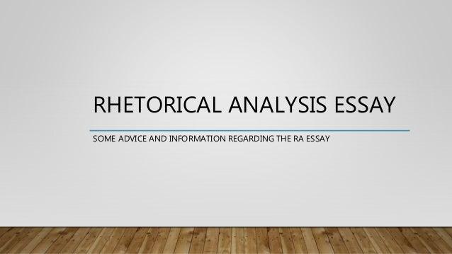 Rhetorical Essay Example