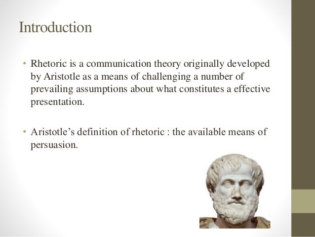 aristotles definition of rhetoric