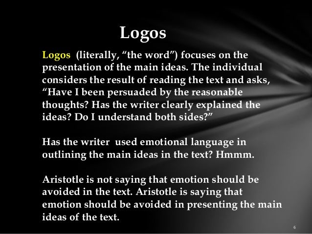 What are examples of ethos in literature?