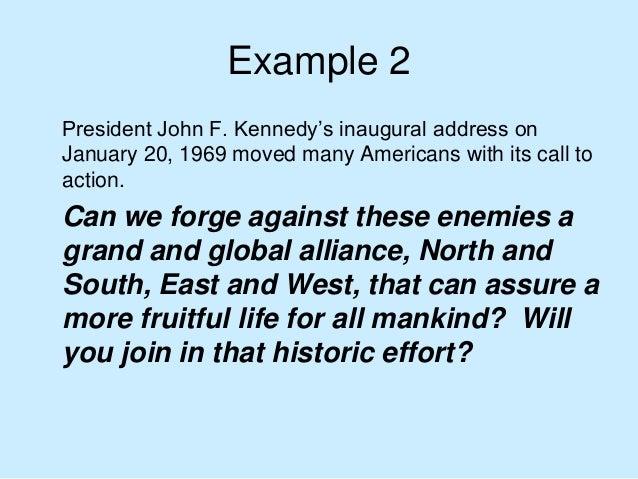 jfk inaugural address rhetorical analysis