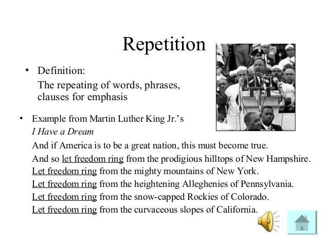 Alliteration in i have a dream speech