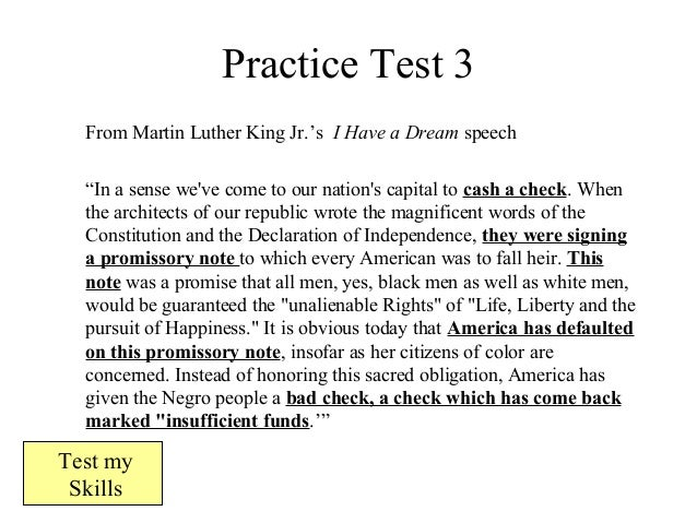 "i have a dream speech antithesis The power of parallelism writers and poets have long used antithesis to show the paradoxical – or opposing in his famous ""i have a dream"" speech."