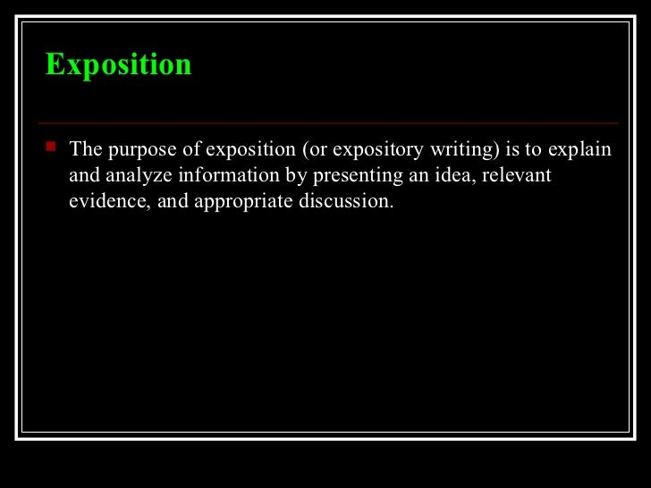 exposition definition in writing