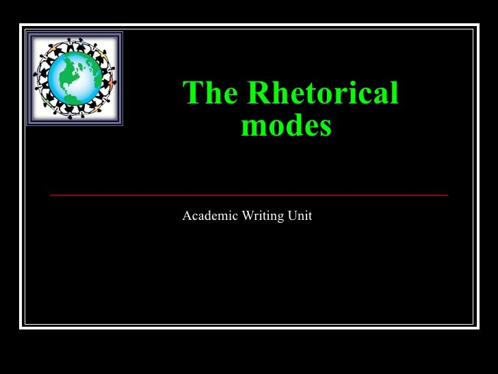 The Rhetorical   modesAcademic Writing Unit