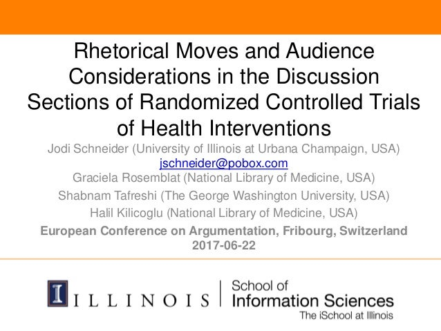 Rhetorical Moves and Audience Considerations in the Discussion Sections of Randomized Controlled Trials of Health Interven...