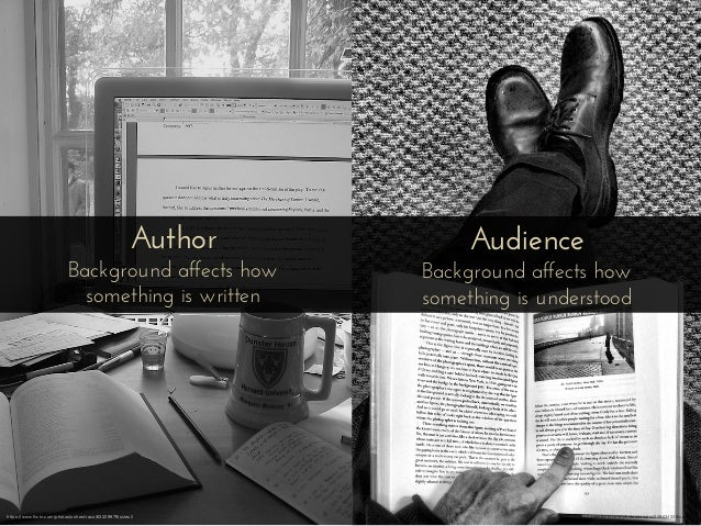 Author Background affects how something is written Audience Background affects how something is understood https://www.flic...