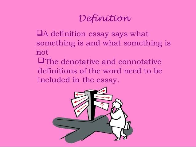 Connotative denotative essay