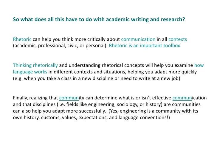 exigency in academic writing