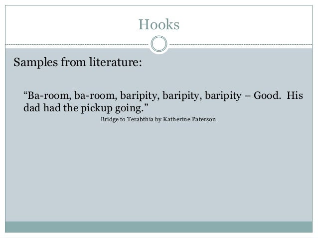 hooks for literary analysis
