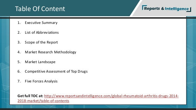 Table Of Content  1. Executive Summary  2. List of Abbreviations  3. Scope of the Report  4. Market Research Methodology  ...