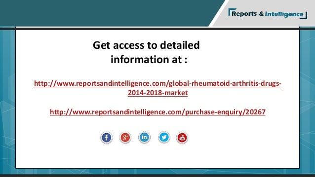Get access to detailed  information at :  http://www.reportsandintelligence.com/global-rheumatoid-arthritis-drugs-  2014-2...