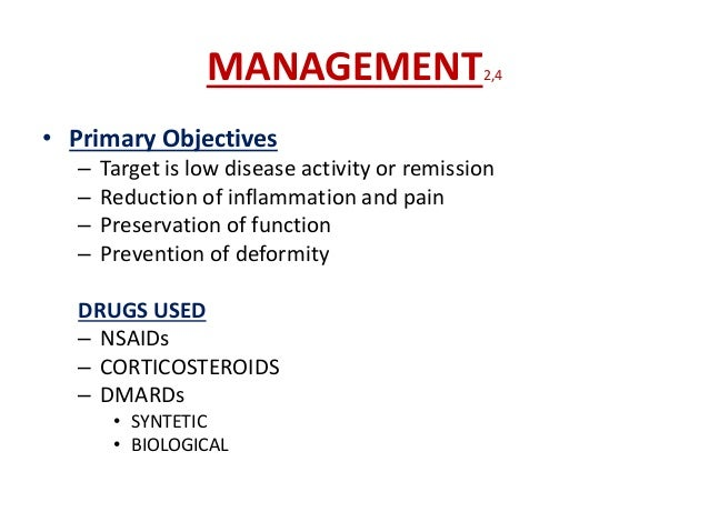 General Measures3 The general aims of management are to: • Educate the patient • Control pain • Optimise function • Modify...