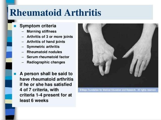 Rheumatoid Arthritis Ppt By Ann
