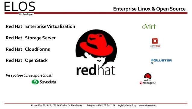 Enterprise Linux & Open Source Ve spolupráci se společností Red Hat EnterpriseVirtualization Red Hat Storage Server Red Ha...
