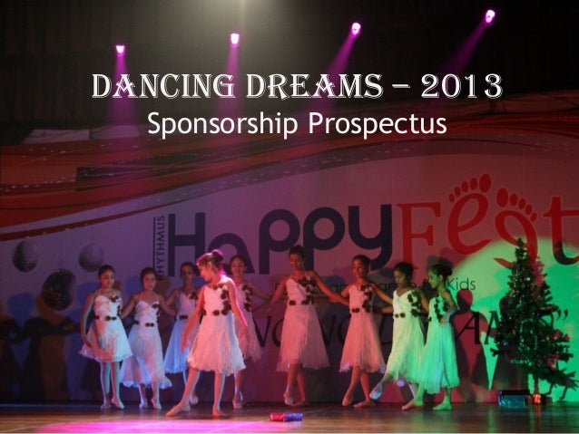 Dancing Dreams – 2013 Sponsorship Prospectus