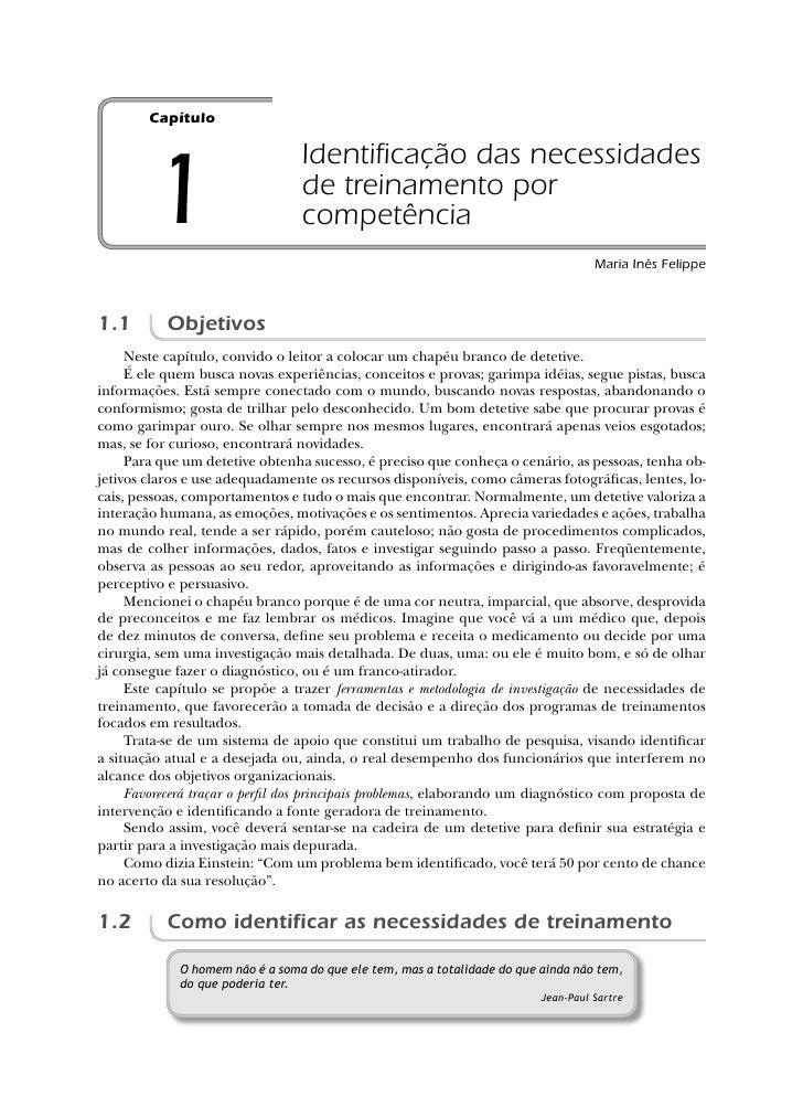 Capítulo                                   Identificação das necessidades         1                        de treinamento p...