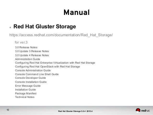 ... Storage (RHGS); 10.