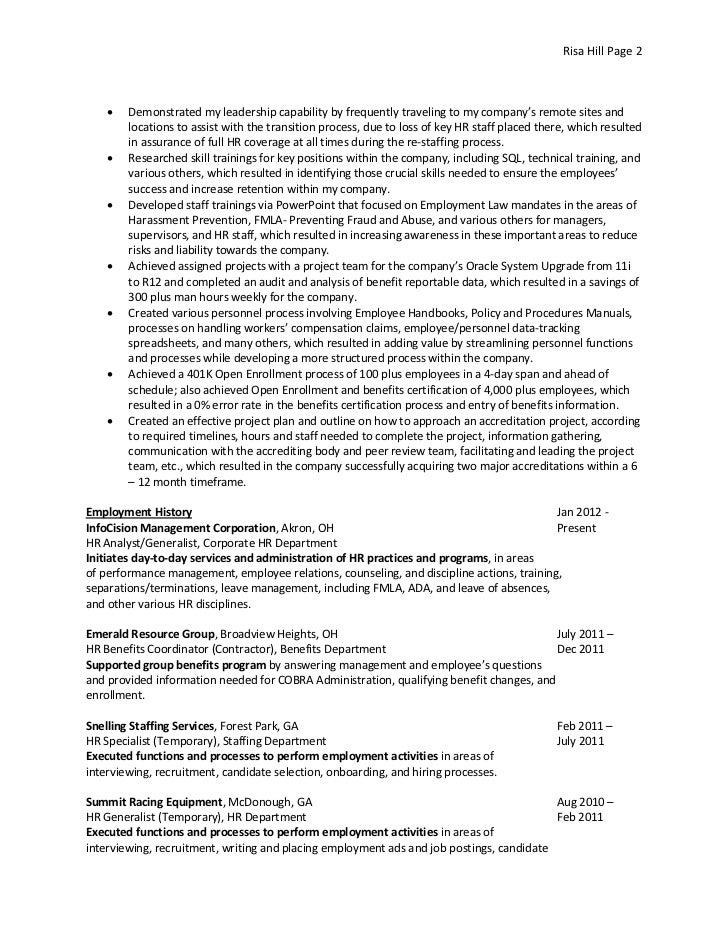 2 - Staffing Specialist Resume