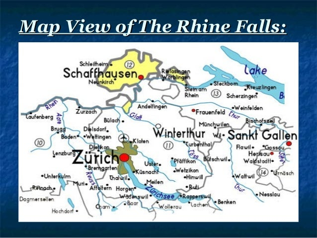 Rhine water falls