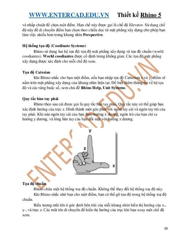 giáo trình hướng dẫn thiết kế Rhinoceros5
