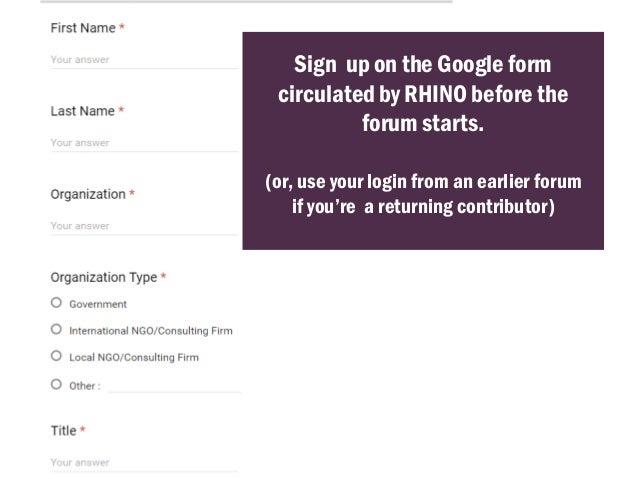 How to Participate in RHINO Forums Slide 3