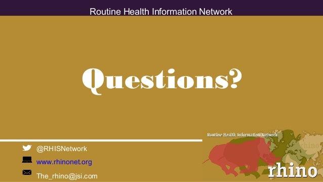 Achieving Universal Health Coverage - RHINO (HSR2018) pt.2