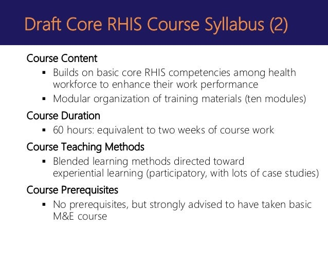 rhis curriculum  standardizing core competencies and vtraining materi u2026