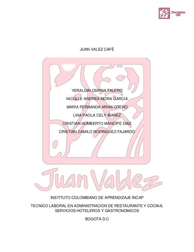 JUAN VALEZ CAFÉ YERALDIN OSPINA TALERO NICOLLE ANDREA MORA GARCIA MARIA FERNANDA ARIAS OTERO LINA PAOLA CELY IBAÑEZ CRISTI...