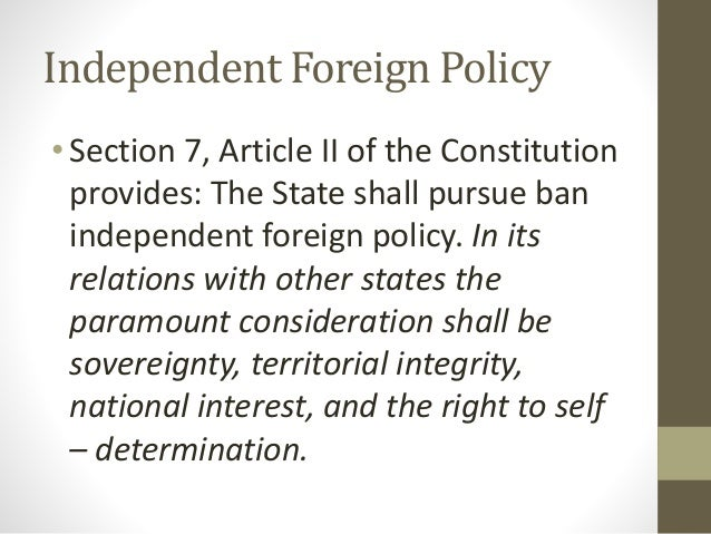 article ii of philippine constitutiions Section five article six of the philippine constitution is theseparation of the government from religion what this means is thegovernment can not interfere with the religious practices of thepeople in their homes or private educational facilities.