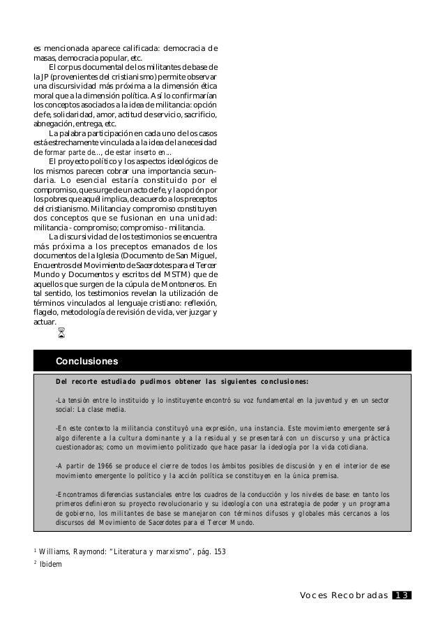 Voces Recobradas14 O presente trabalho é um adiantamento de uma investigaçao que se leva a fim no Instituto Histórico da C...