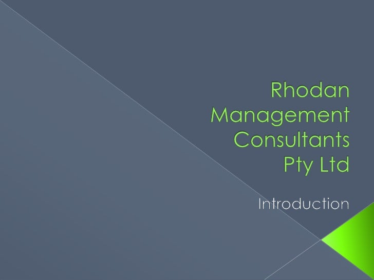 Rhodan Management Consultants Pty Ltd<br />           Introduction<br />