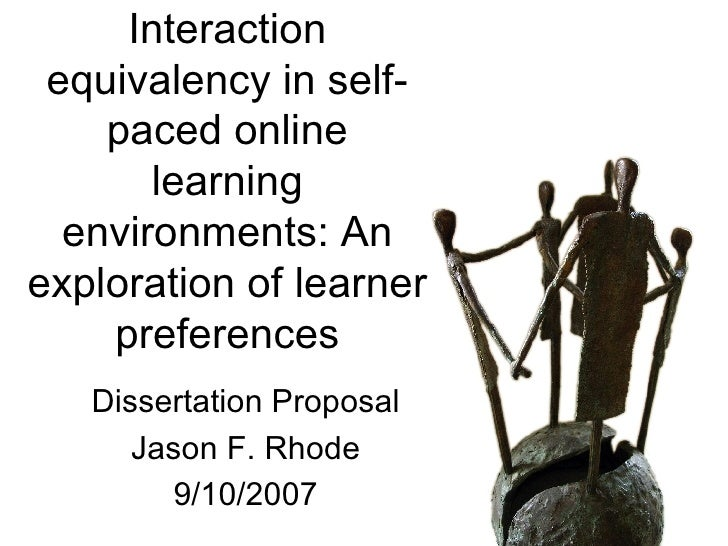 Interaction equivalency in self-paced online learning environments: An exploration of learner preferences Dissertation Pro...