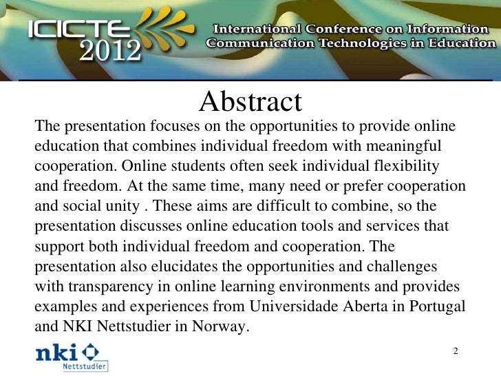 Cooperative Freedom and Transparency in Online Education Slide 2