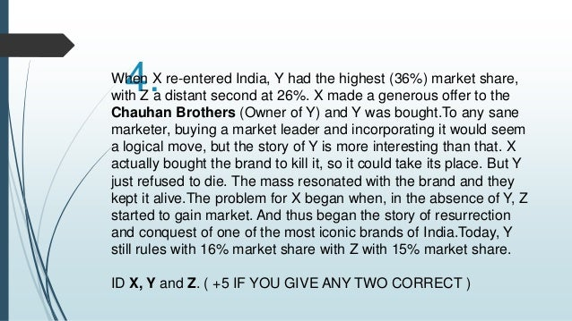 7.  In an interview in 2008, Ramesh Chauhan of 'X'  revealed that he had approached the owners of  Duke's Lemonade, reques...