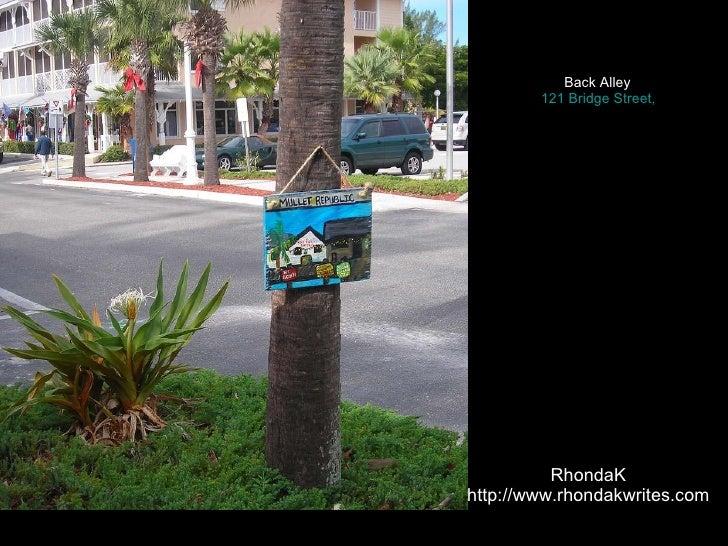 Rhonda K, Native Florida Folk Artist'S Work At Back Alley Bridge Stre…