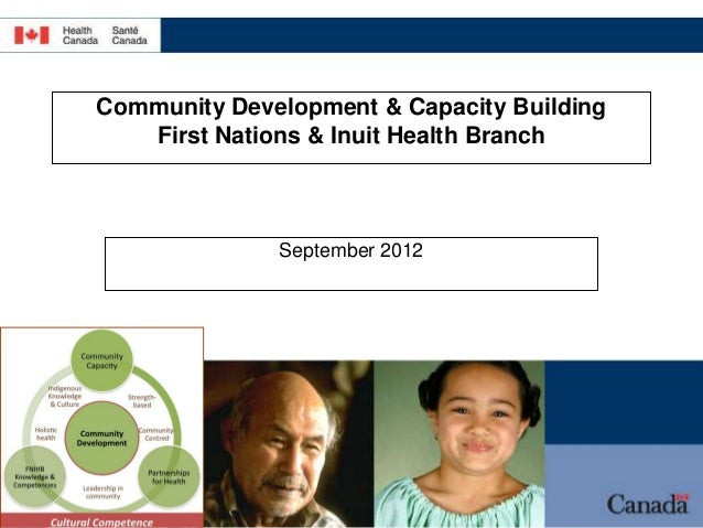 Community Development & Capacity Building   First Nations & Inuit Health Branch              September 2012