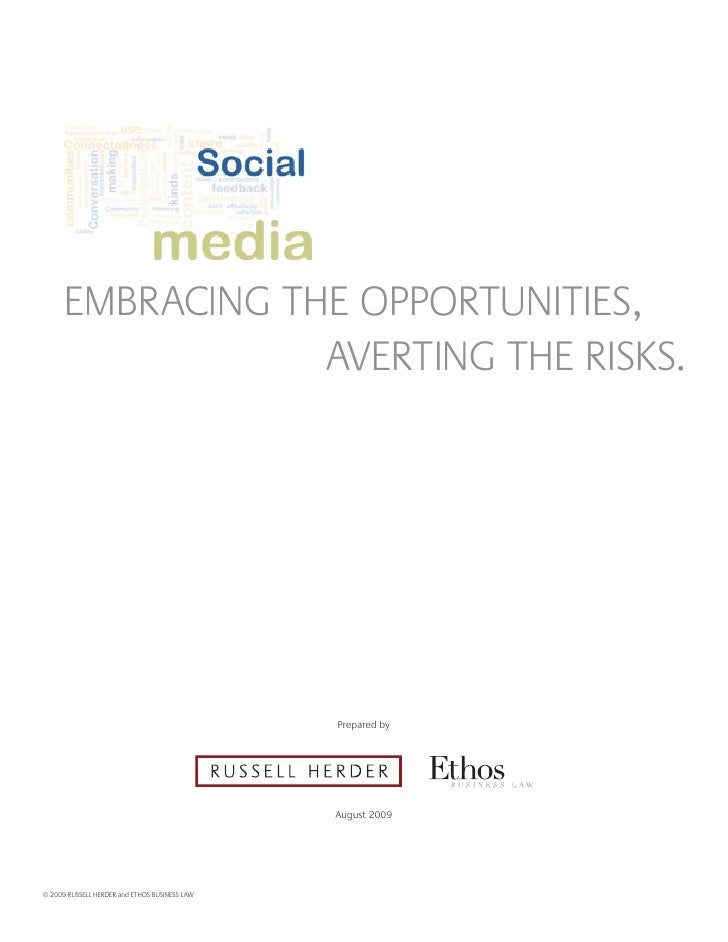 EmBRAcINg THE OppORTUNITIES,                   AvERTINg THE RISkS.                                                    prep...