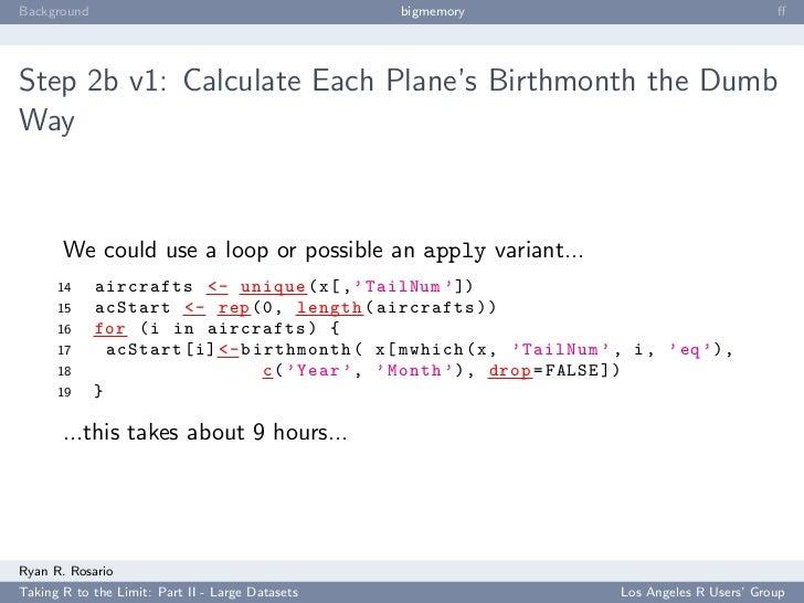 Background                                        bigmemory                                       ff     Step 2b v1: Calcul...