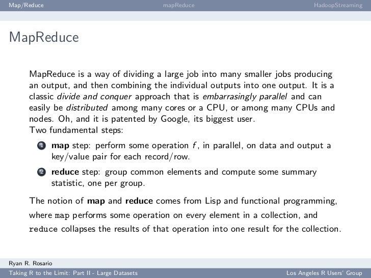 Map/Reduce                                        mapReduce                        HadoopStreaming     MapReduce         M...
