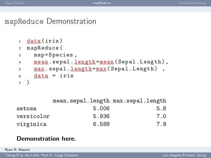 Map/Reduce                                        mapReduce            HadoopStreaming     mapReduce Demonstration        ...