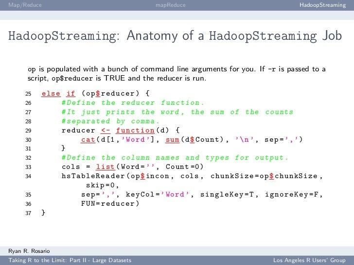 Map/Reduce                                        mapReduce                          HadoopStreaming     HadoopStreaming: ...