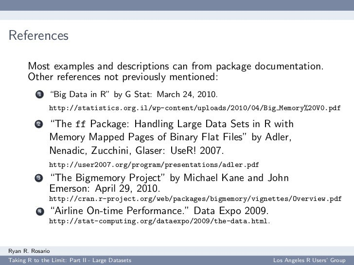 References         Most examples and descriptions can from package documentation.        Other references not previously m...