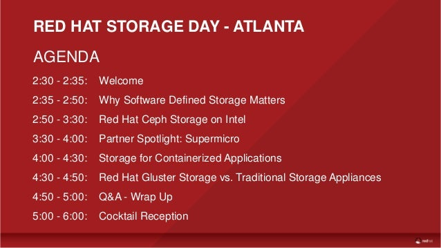 Red Hat Storage Day Atlanta Why Software Defined Storage
