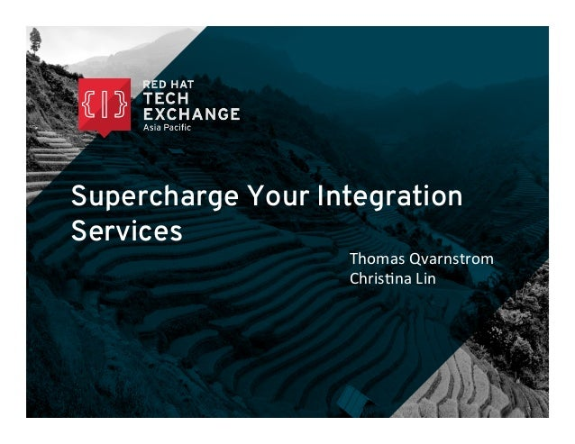 Supercharge Your Integration Services Thomas	   Qvarnstrom	   	    Chris/na	   Lin