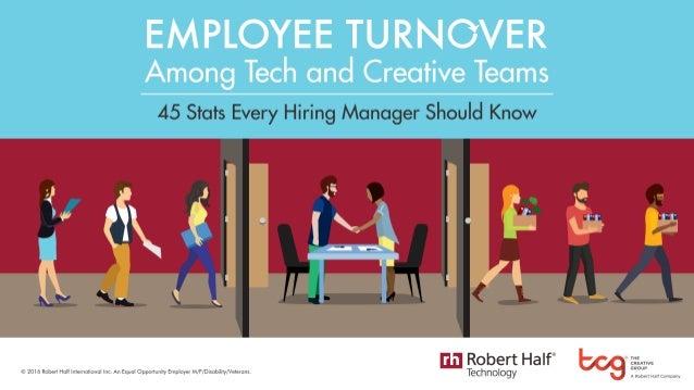 Employee Turnover Among Tech and Creative Teams