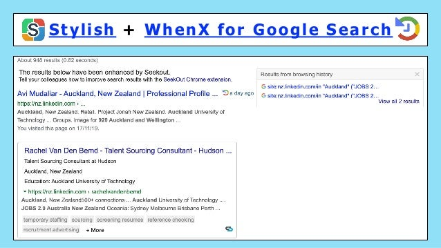 Stylish + WhenX for Google Search