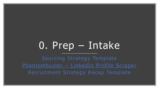 0. Prep – Intake Sourcing Strategy Template Phantombuster – LinkedIn Profile Scraper Recruitment Strategy Recap Template