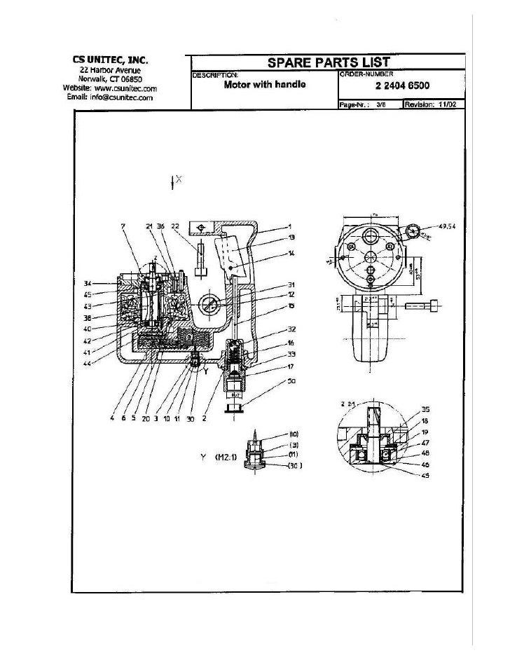 CS UNITEC                               Rotary Hammer Motor with Handle 2 2404 6500 Parts List                            ...