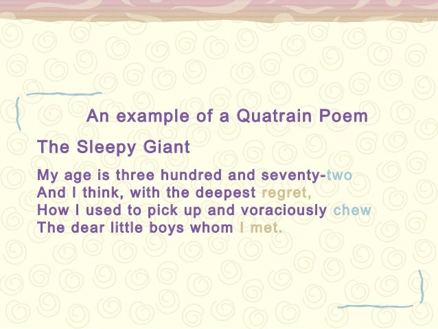 quatrain poems examples - photo #9