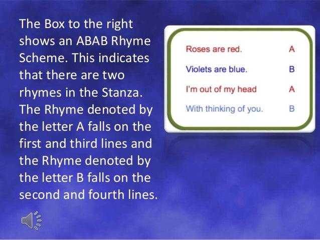 complex rhyme scheme examples